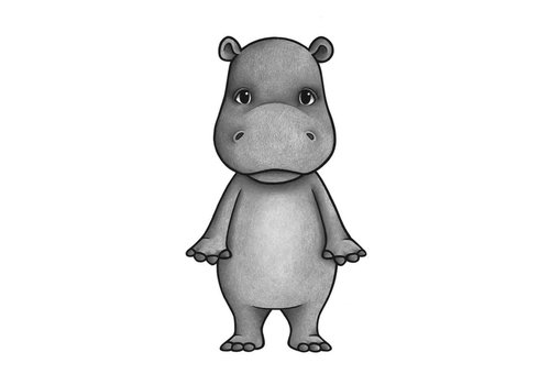 Stickstay Wandaufkleber Filippo the hippo