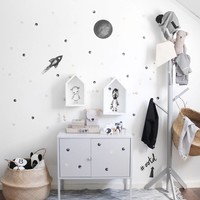 Stickstay wall sticker Rocket nearly black