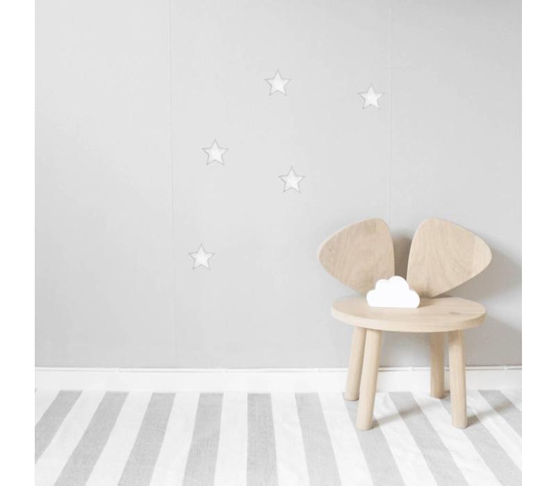 Stickstay muursticker Stars white big