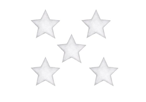 Stickstay muursticker Stars white big