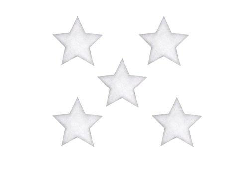 Stickstay Wandaufkleber Sterne weiß groß