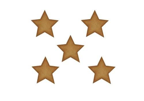 Stickstay wall sticker Stars dark gold big