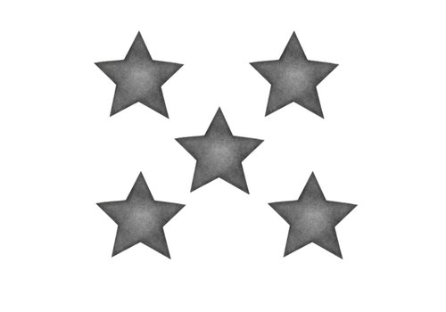 Stickstay muursticker Stars dark grey big