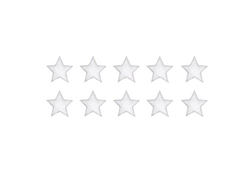 Stickstay muursticker Stars white small
