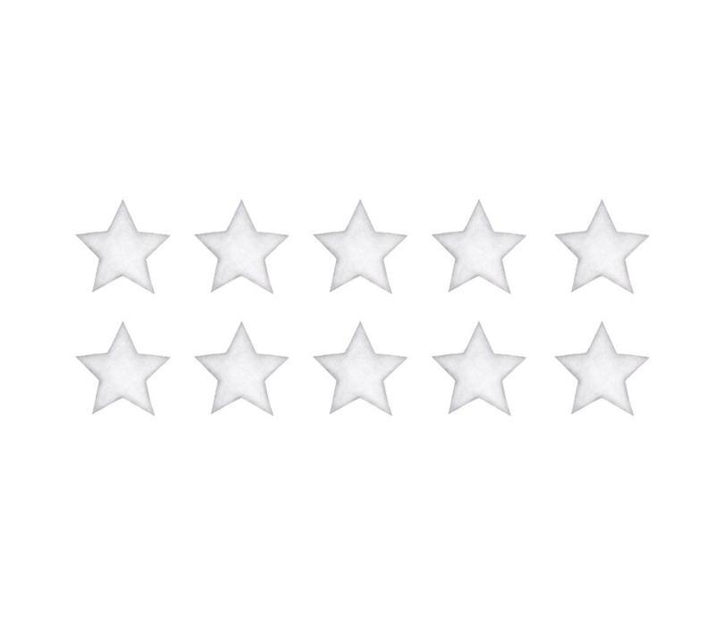 Stickstay Wandaufkleber Sterne weiß klein