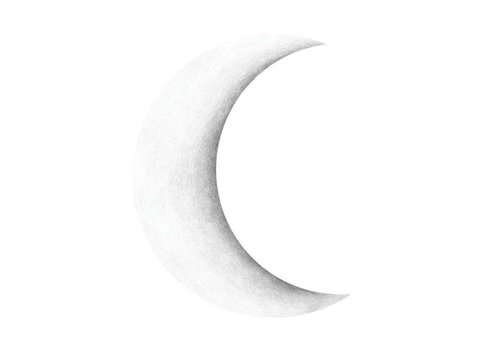 Stickstay wall sticker Half moon white