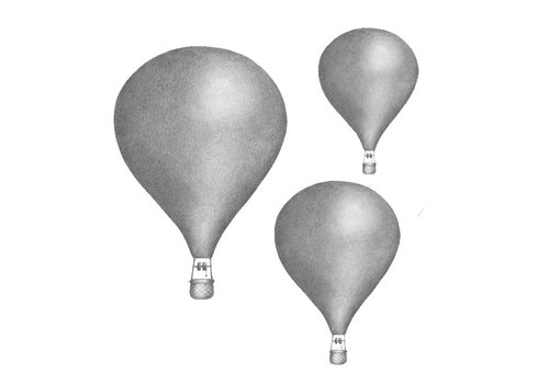 Stickstay wall sticker Graphite gray Balloon set of 3