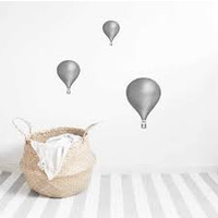 Stickstay muursticker Light grey Ballon set van 3