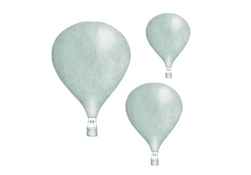 Stickstay Wandaufkleber Dusty Mint Balloon 3er-Set
