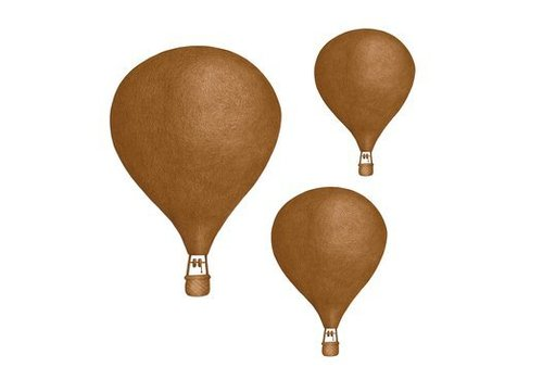 Stickstay Wandaufkleber Dark Gold Balloon 3er Set
