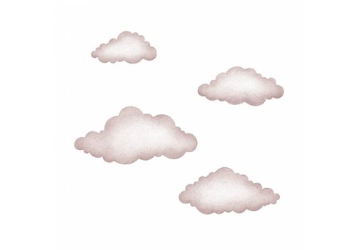 Stickstay muursticker Pink clouds set van 4