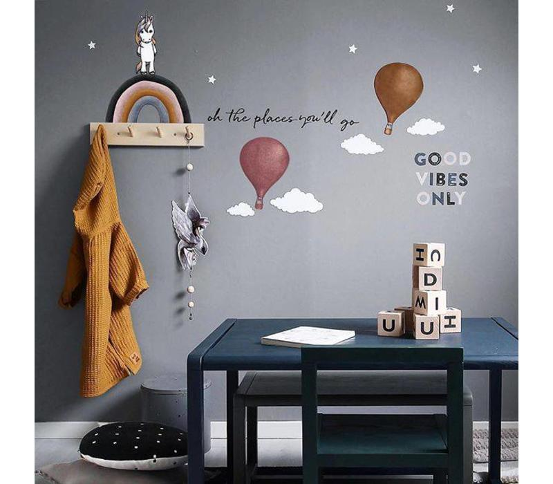 Stickstay wall sticker text Oh the places you'll go