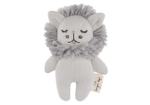 Konges Sløjd mini lion rattle Gray Melange