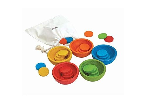 Plan Toys sort and count containers