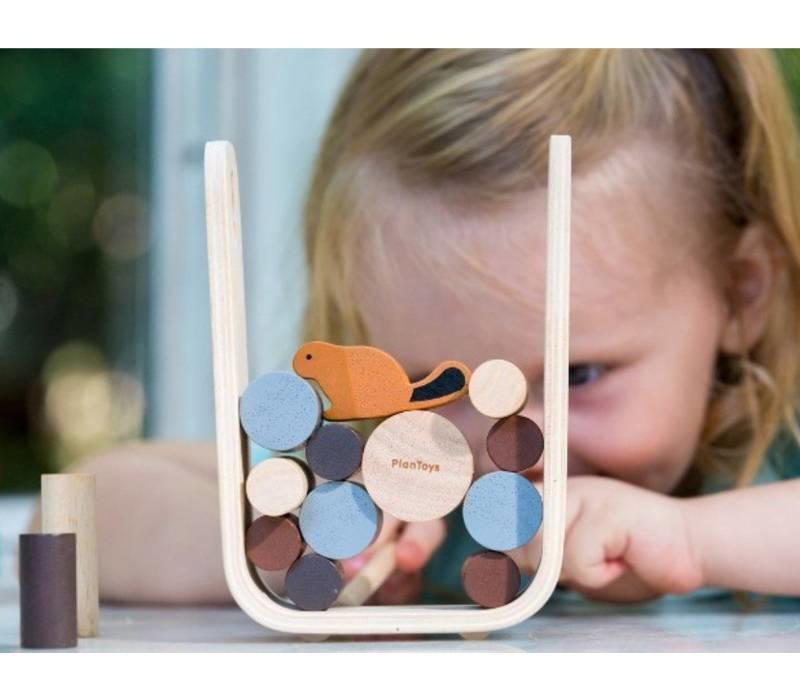 Planen Sie Spielzeug Spiel Timber Tumble
