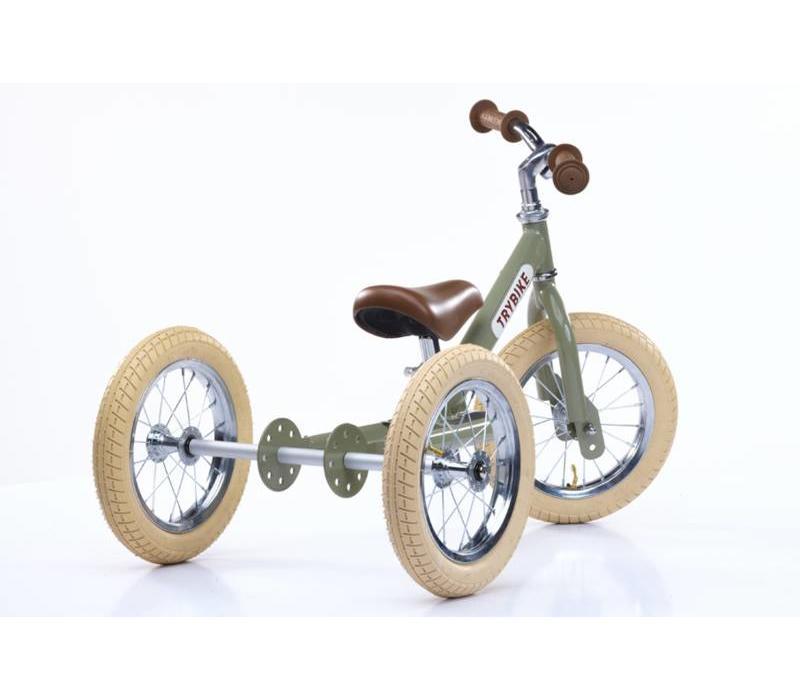 Trybike steel vintage green driewieler
