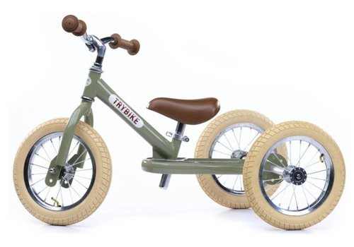 Trybike-Stahlweinlesegrün-Dreirad