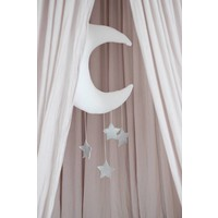 Cotton & Sweets moon mobile white - silver stars