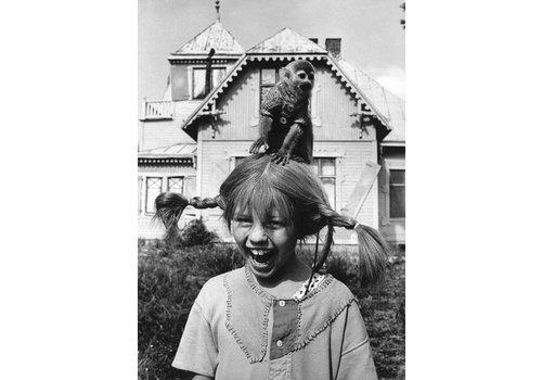 Frau Erdbeerplakat Pippi Langstrumpf