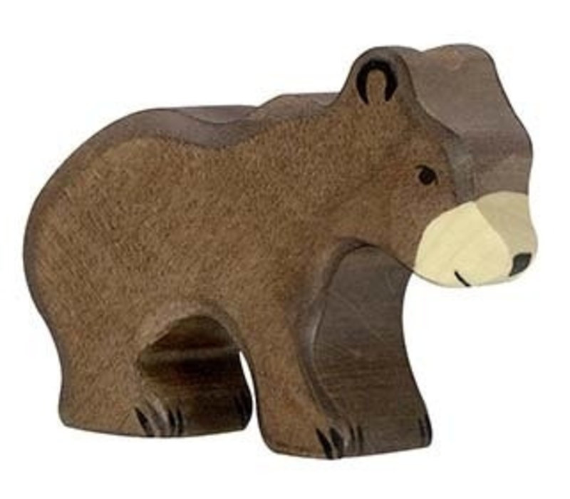 Holztiger brown bear small 7.5 cm