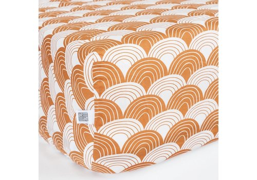 Swedish Linens hoeslaken Cinnamon brown - diverse maten