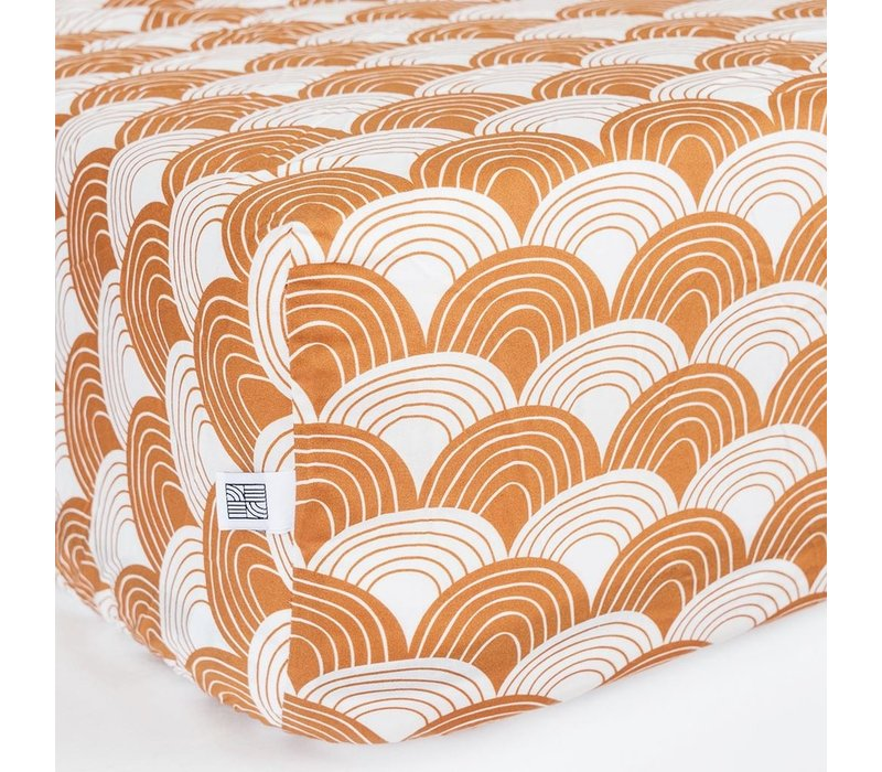 Swedish Linens fitted sheet of Cinnamon brown - various sizes
