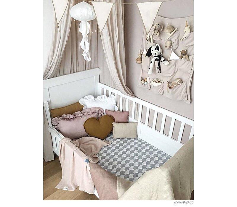 Schwedische Bettwäsche Spannbetttuch, Grau - verschiedene Größen