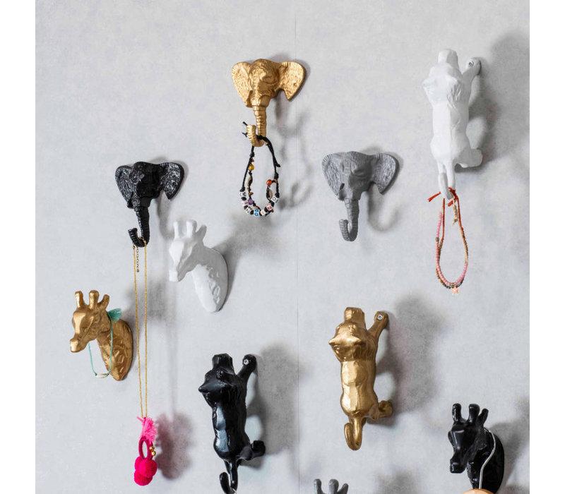 KidsDepot Lino wandhaakje olifant goud