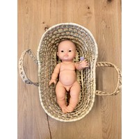 Dolls wicker moses basket mini