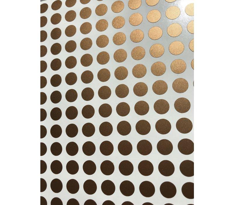 Mevrouw Aardbei 280 muurstickers stipjes koper 1 cm
