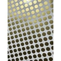 Mevrouw Aardbei 280 muurstickers stipjes goud 1 cm