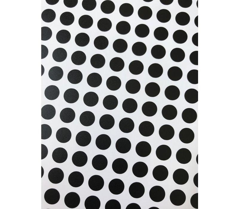 Mevrouw Aardbei 280 wall stickers dots black 1 cm