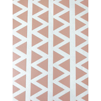 Mrs Aardbei 95 wall stickers triangle 2,2 cm - old pink