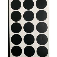 Mrs. Aardbei 40 wall stickers circle black 3 cm