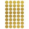 Mevrouw Aardbei 40 muurstickers cirkel goud 3 cm