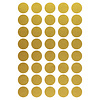 Mrs. Aardbei 40 wall stickers circle gold 3 cm