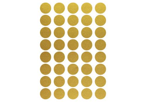 Mrs. Aardbei 40 Wandsticker Kreis Gold 3 cm
