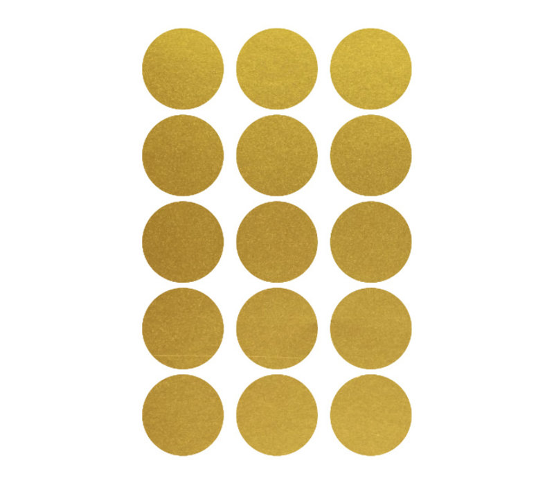 Frau Erdbeere 15 Wandaufkleber Goldkreis 5 cm