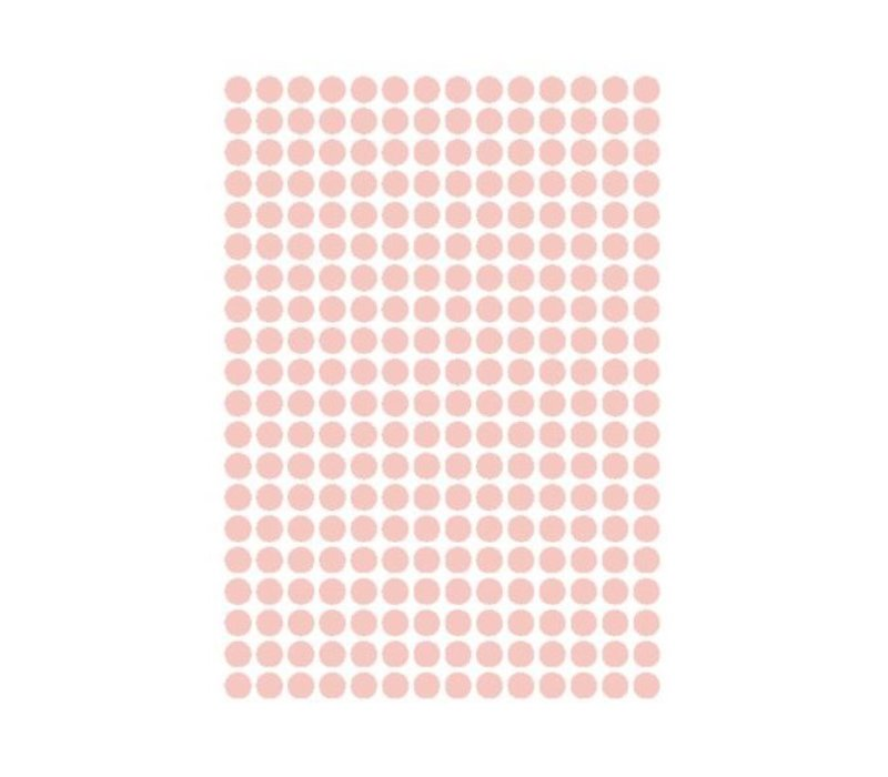 Mevrouw Aardbei 280 wall stickers dots old pink 1 cm