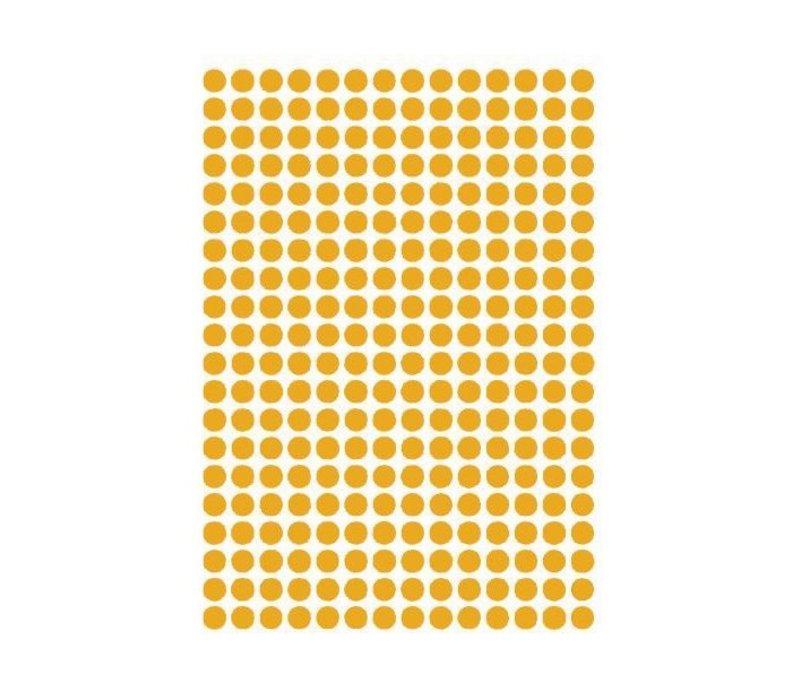 Mrs. Strawberry 280 wall stickers dots ocher 1 cm