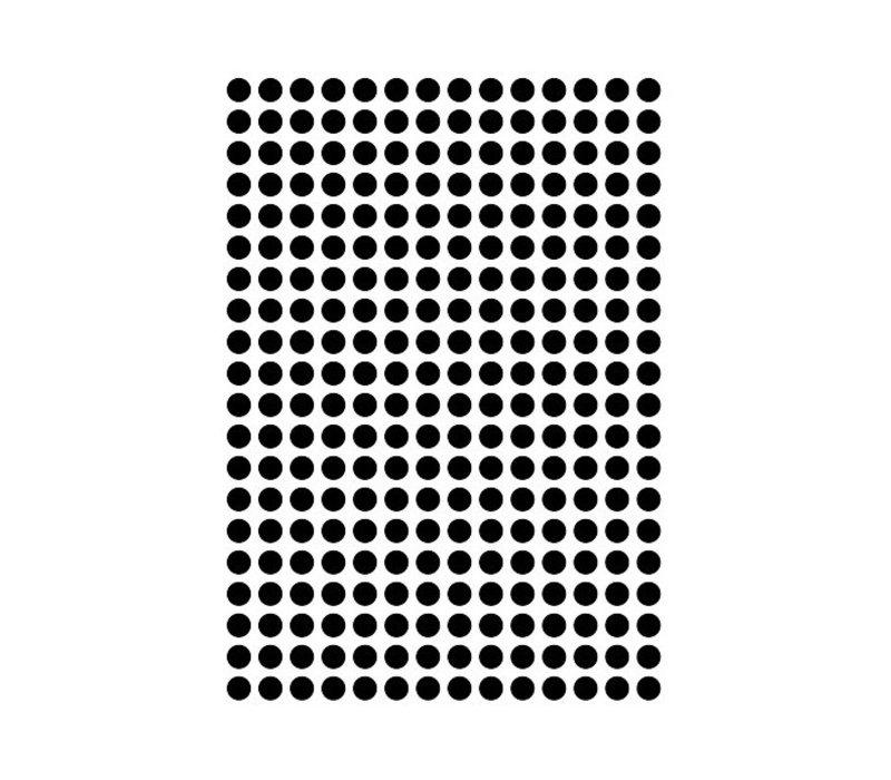Mevrouw Aardbei 280 muurstickers stipjes zwart 1 cm