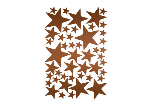 Mrs. Strawberry 47 wall stickers stars copper