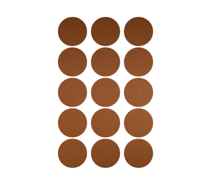 Mrs. Aardbei 15 wall stickers circle copper 5 cm