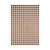 Mrs Aardbei 280 wall stickers dots copper 1 cm