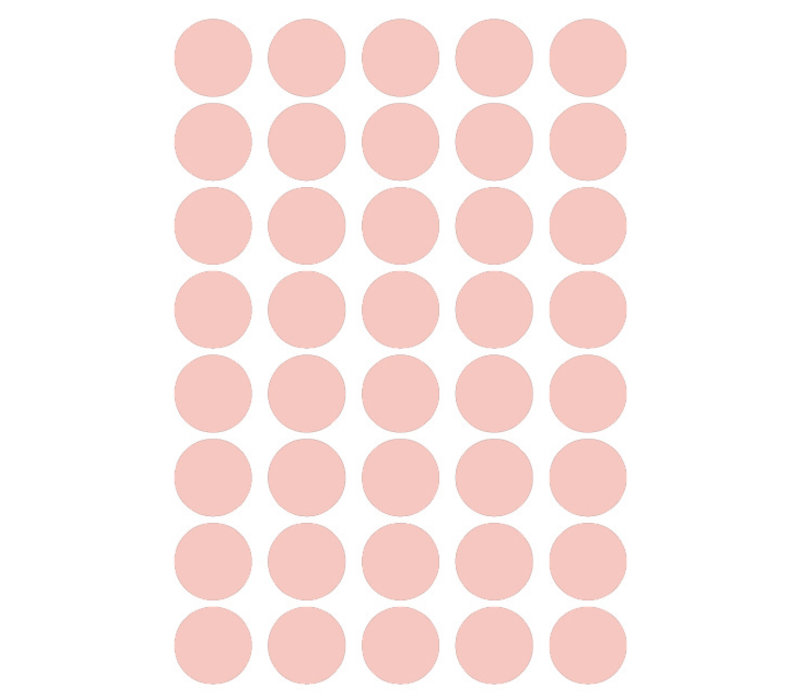 Mrs. Aardbei 40 wall stickers circle old pink 3 cm