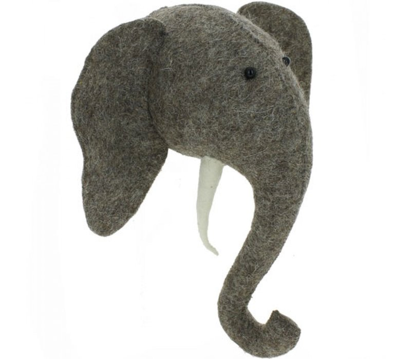 Fiona Walker animal head elephant - mini