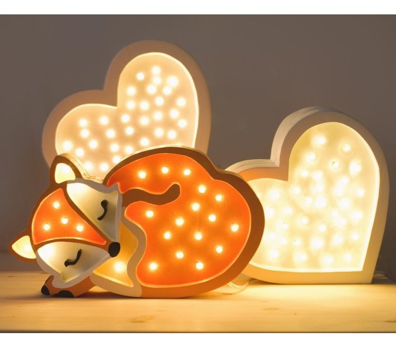 Kleine Lichter Lampe Fox Wild Orange
