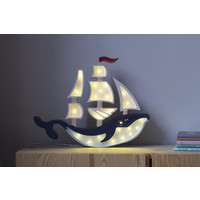 Little Lights Lampe Schiff Navy