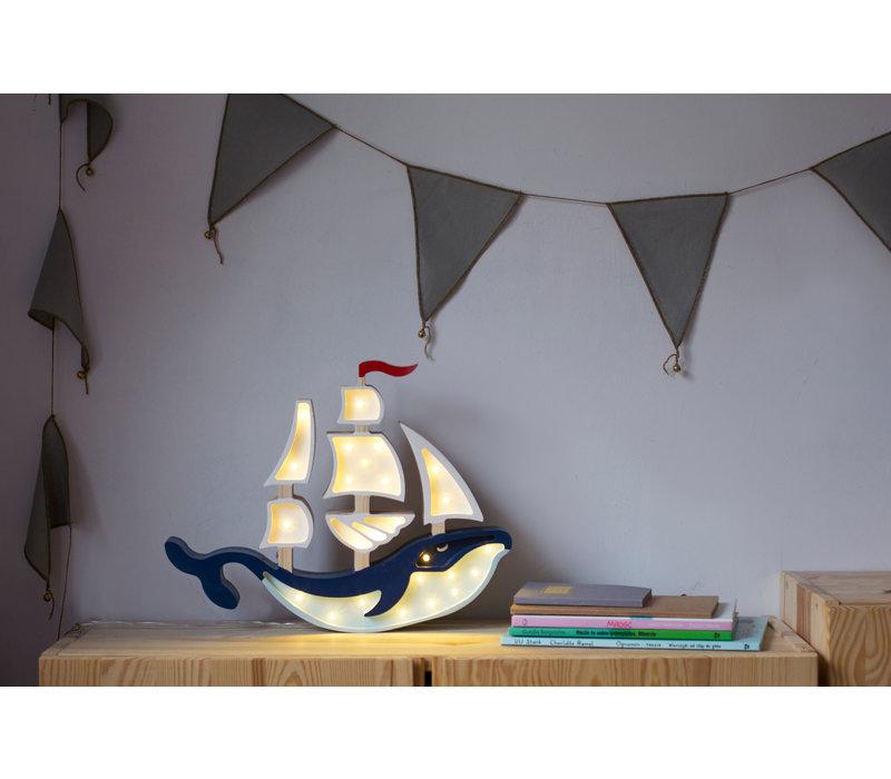 Little Lights lamp Ship Navy