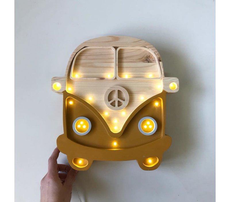 Little Lights lamp Van Mustard Wood